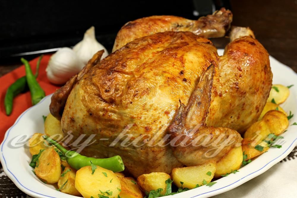Запеченная курица в духовке рецепты