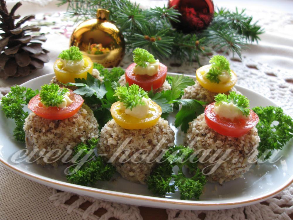 Новогодние закуски 2015 с фото рецепты
