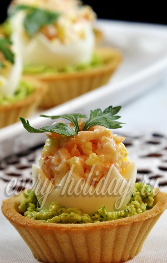 137Тарталетки рецепты с креветками и авокадо