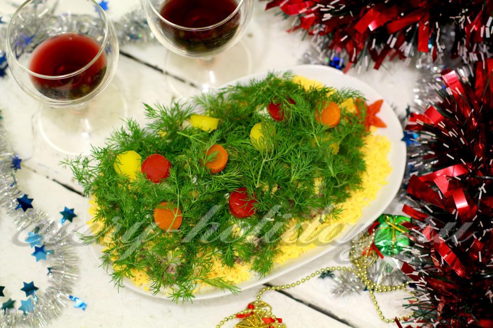 Новогодние салаты 2012 фото рецептами