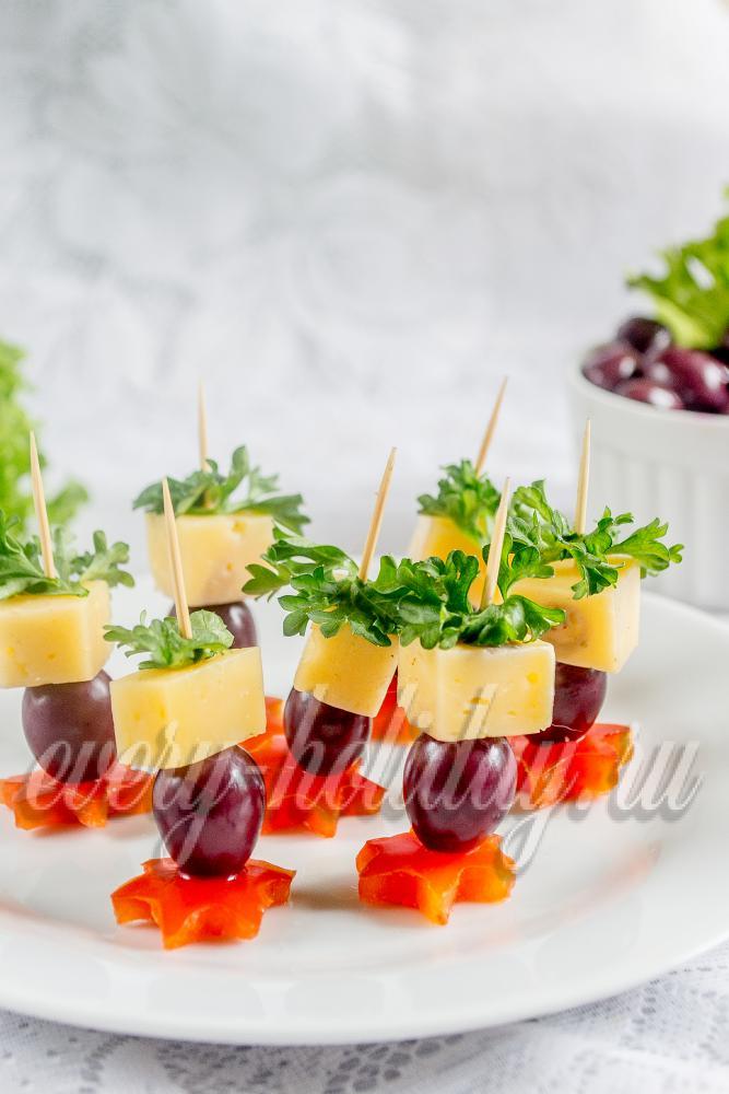 Канапе виноградом рецепты фото