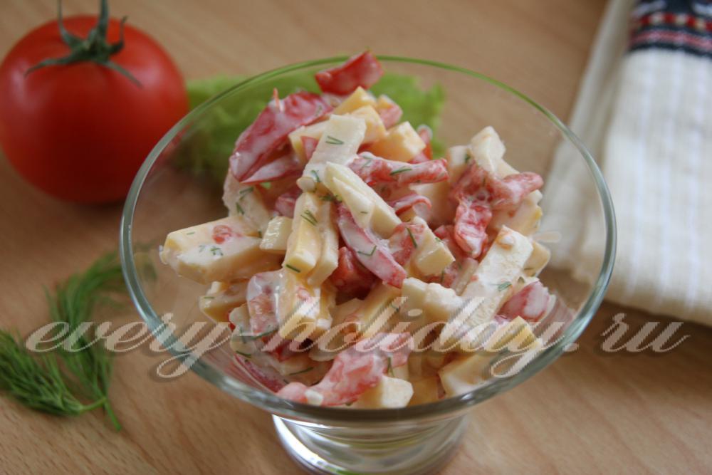 Как сделать салат из помидор и майонеза 976