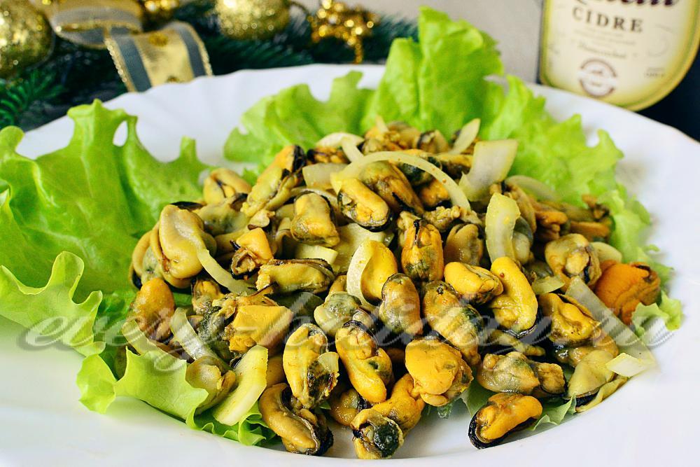 Мидии маринованные салаты рецепты с