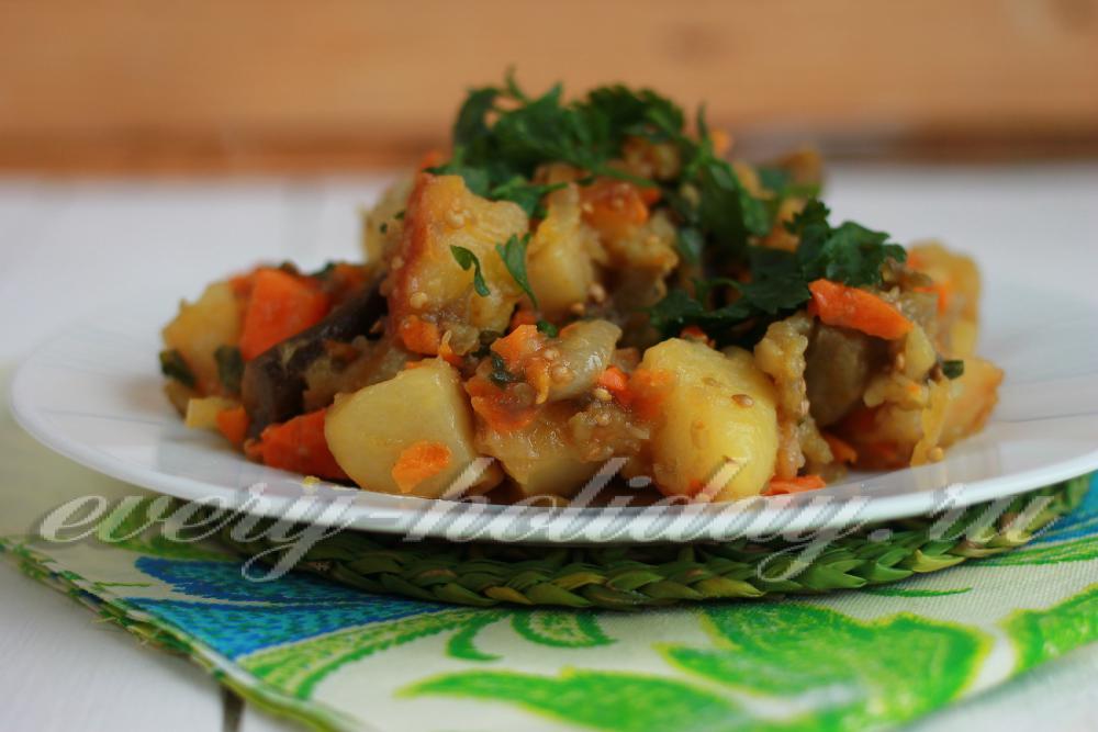 Овощное рагу с баклажаном рецепты с пошагово