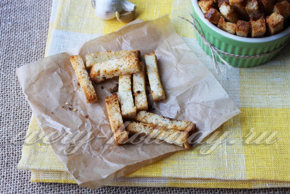 Сухарики в домашних условиях в духовке рецепт с фото 92