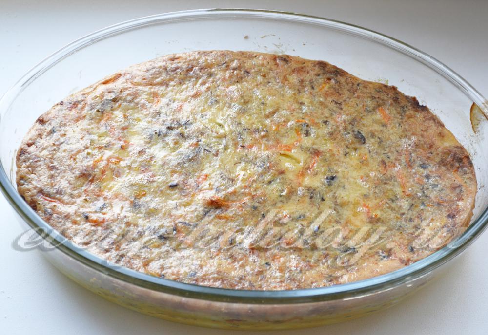 Рыбный пирог заливной рецепт с на кефире