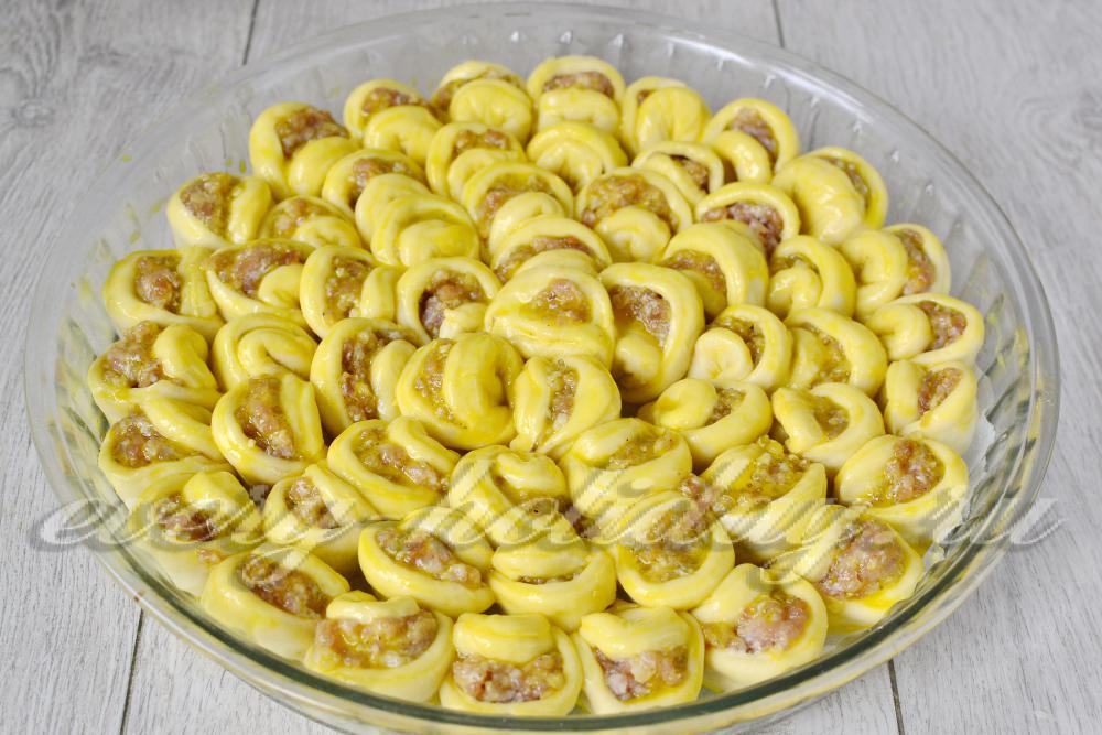 Пирог хризантема пошаговый рецепт с фото
