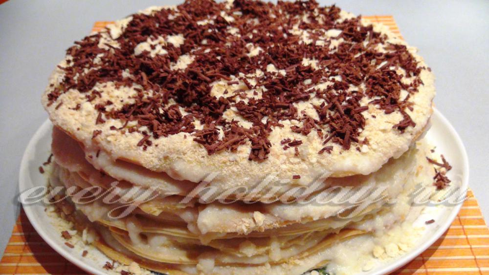 Торт наполеон пошаговый рецепт с классический рецепт