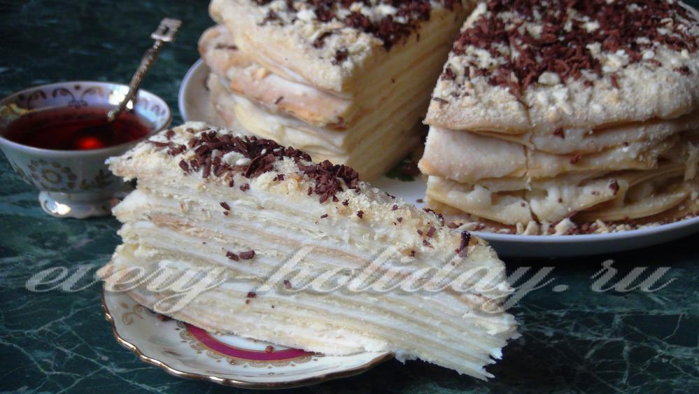 Рецепт торт заварной с сметаной
