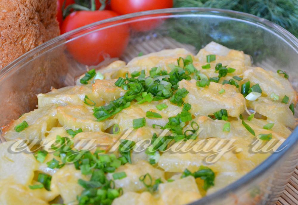 картофель в майонезе запеченный в духовке рецепт