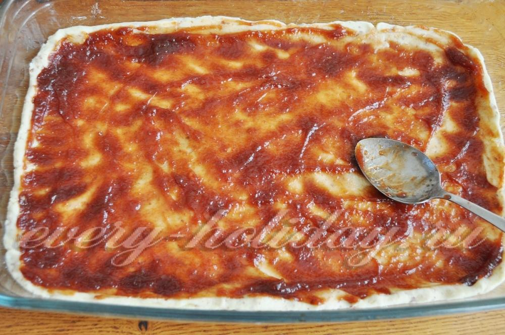 Тертый постный пирог с вареньем в духовке рецепт с пошаговый