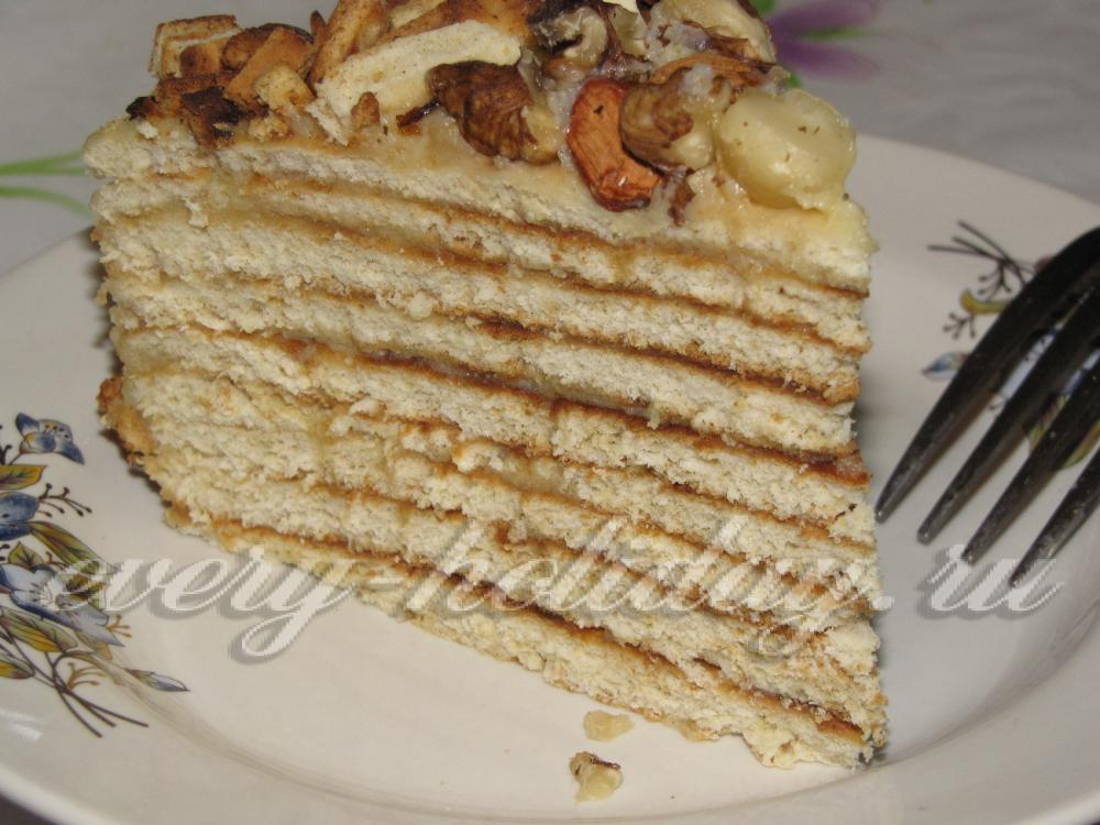 Быстрый торт со сгущенкой рецепт фото