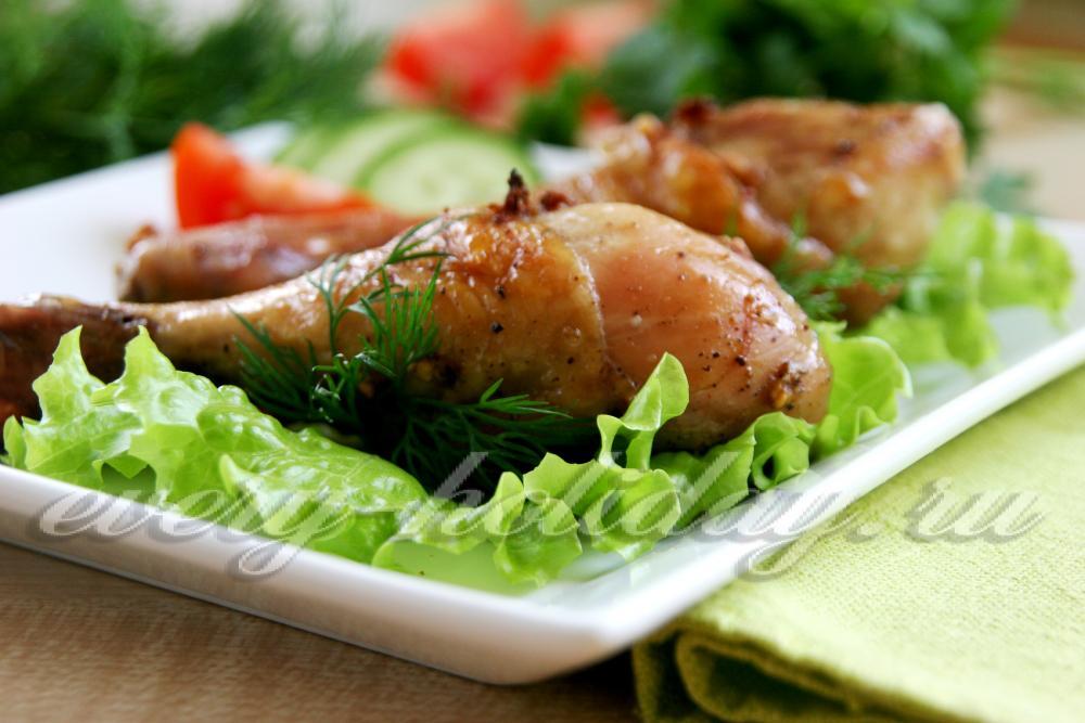 ножки куриные в соево медовом соусе в духовке