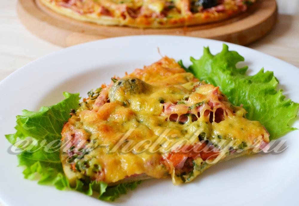 пицца без дрожжей рецепт пошагово