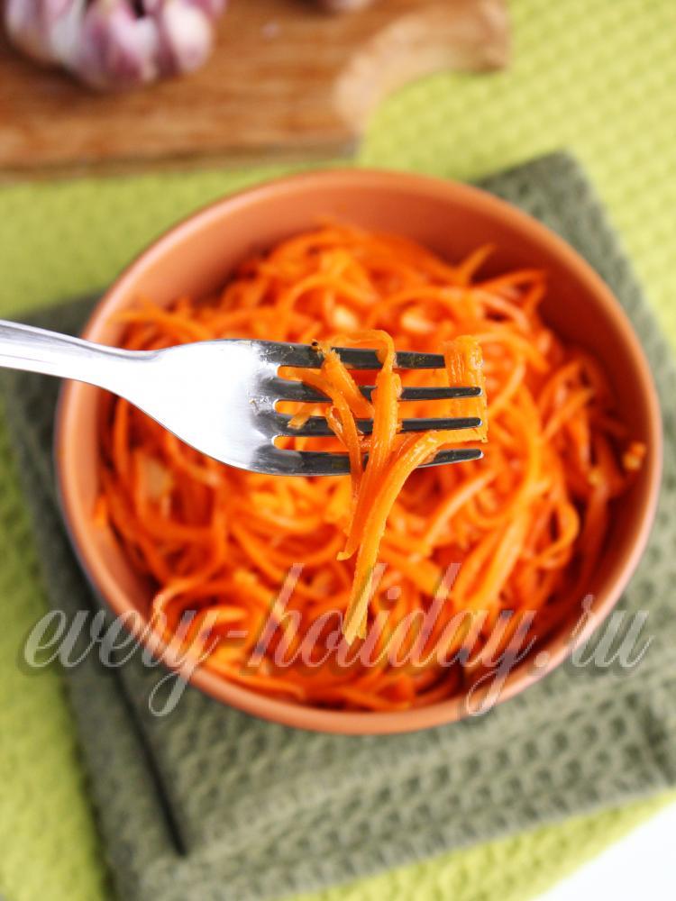 Корейская морковь в домашних условиях рецепт без лука