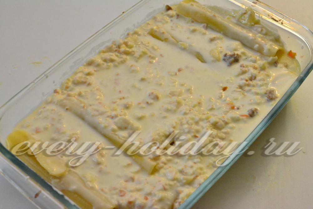 Каннеллони с фаршем в мультиварке рецепт с пошагово в