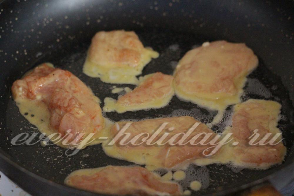 куриные отбивные в кляре рецепт с фото на сковороде