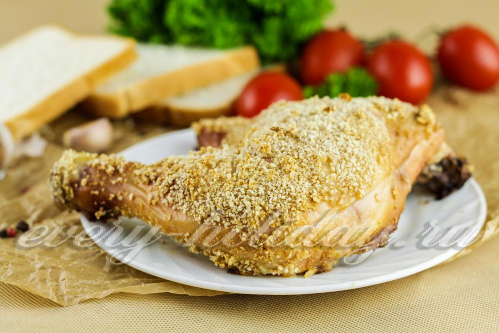 курица в духовке с корочкой в рукаве рецепт с фото
