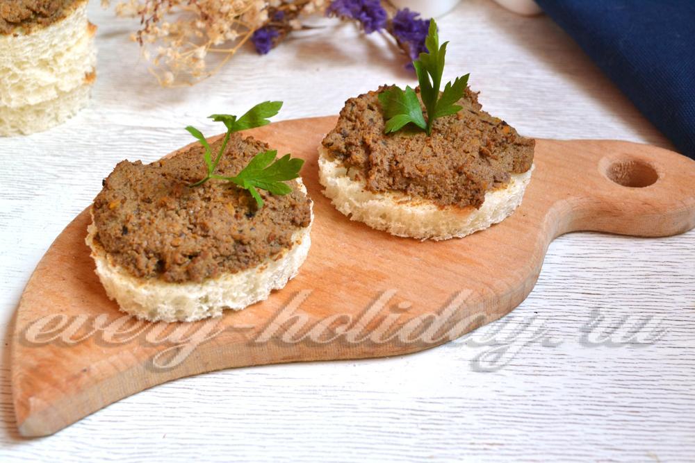 Рецепты с пошаговые паштет из свиной печени