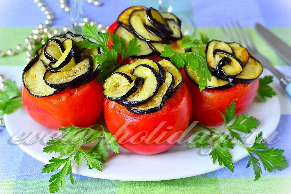 салат из баклажан и помидор рецепт с фото