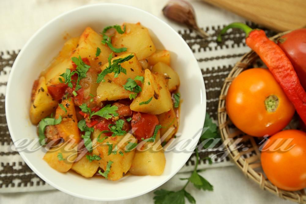 рагу с мясом с кабачками и картошкой рецепт с фото в