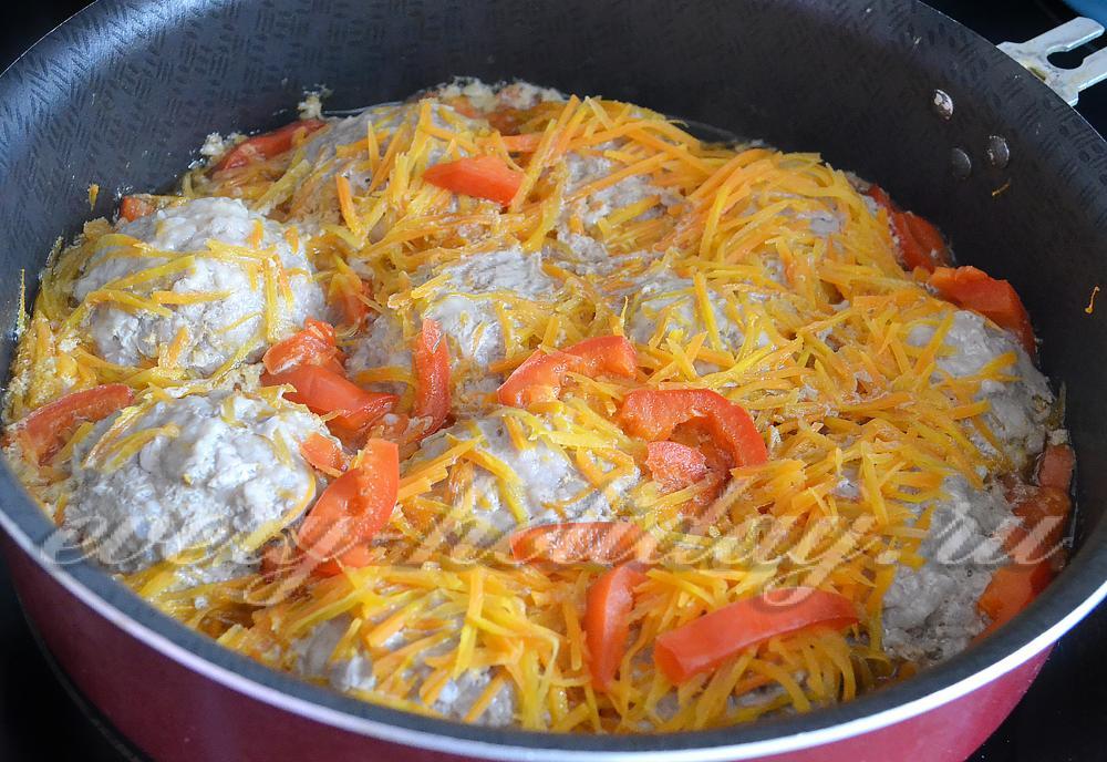 Овощное рагу с грибами и капустой рецепт с фото