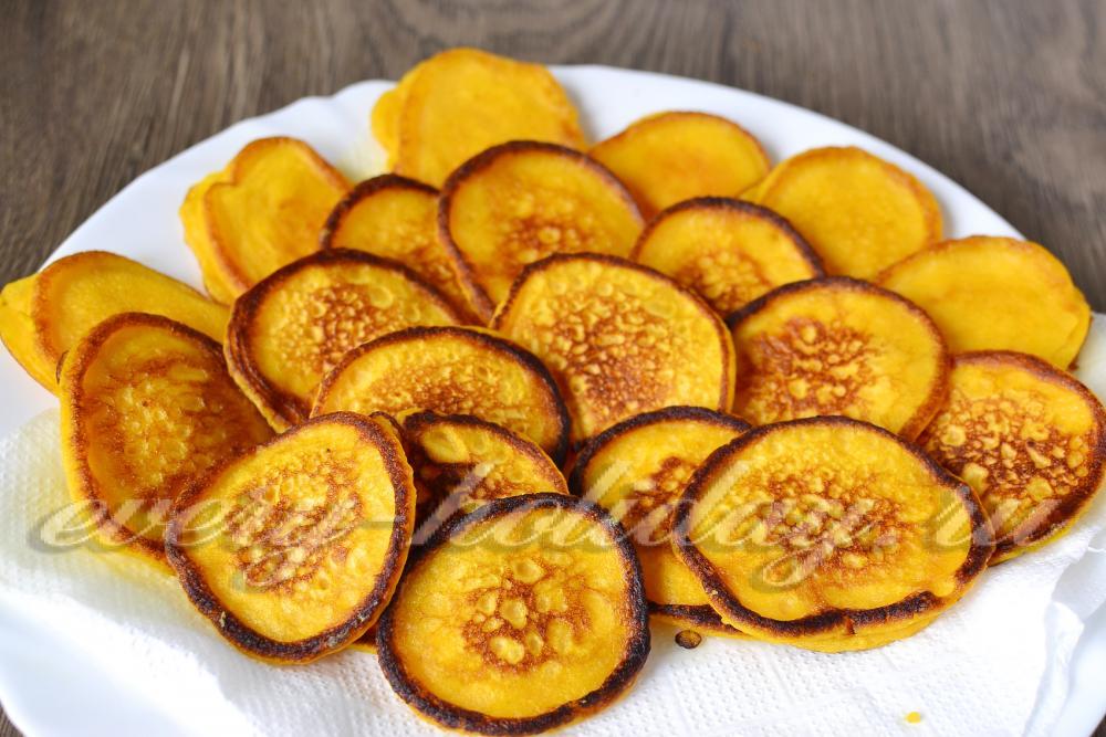 Оладьи из тыквы на кефире рецепт