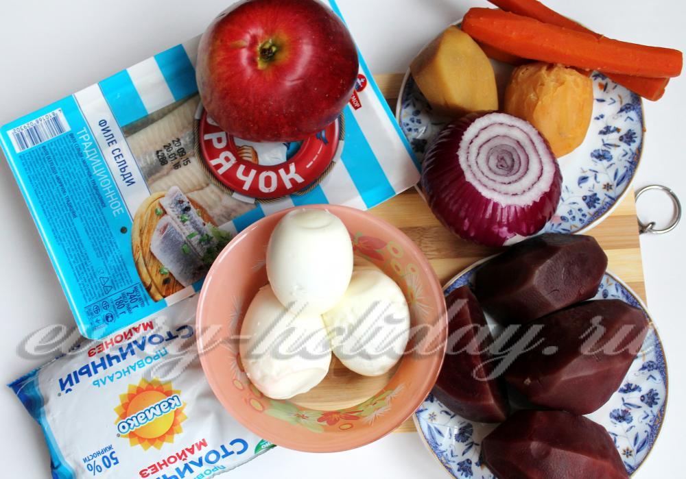 Селедка под шубой классическая  пошаговый рецепт с фото
