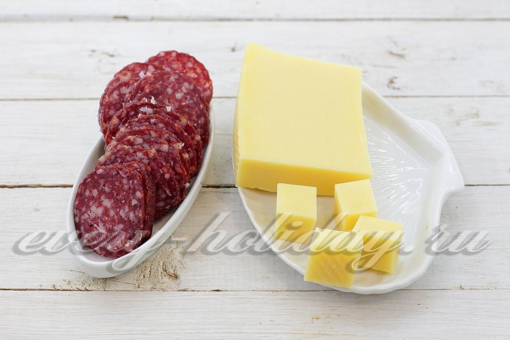Колбаса и сыр красиво своими руками