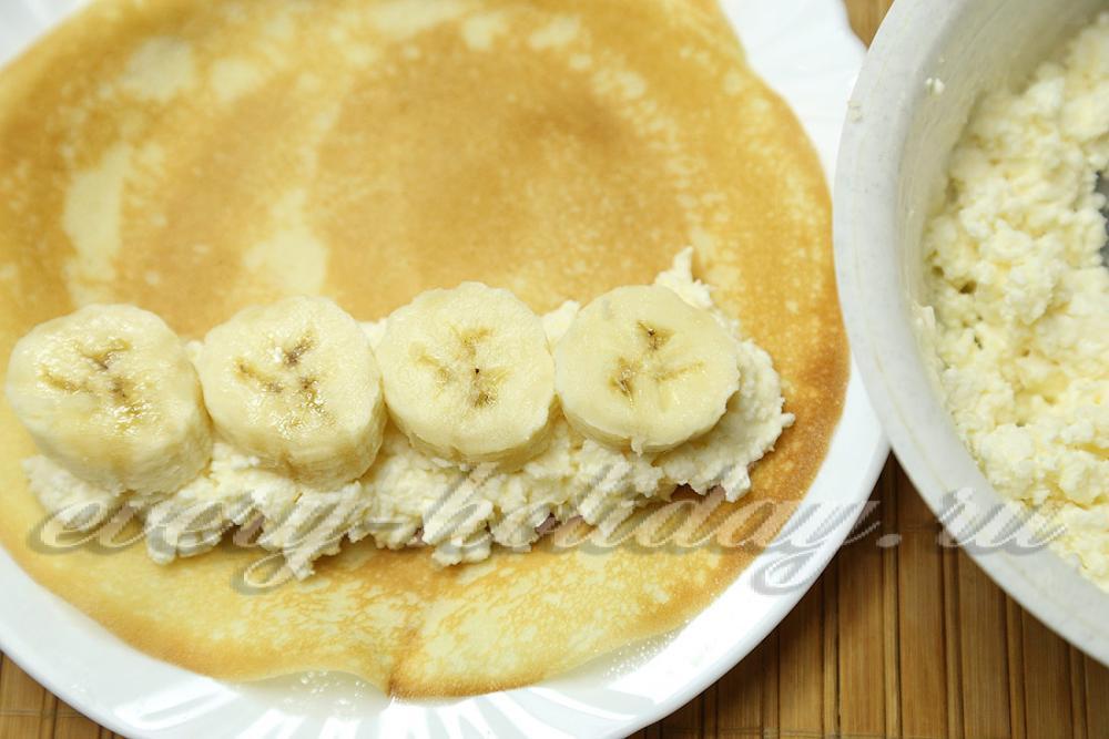 Оладушки с творогом и бананом рецепт 43