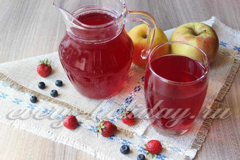 Как сварить компот из ягод рецепт с