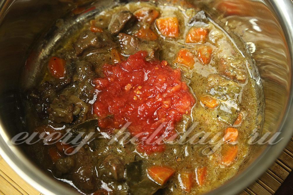 Гуляш из говядины рецепт пошагово без томатной пасты рецепт
