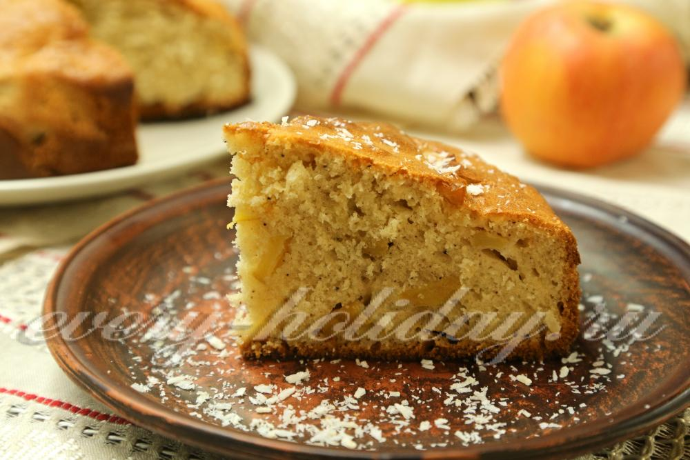 Пирог с яблоками и кокосовой стружкой рецепт с