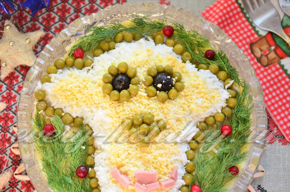 Салат к году обезьяны