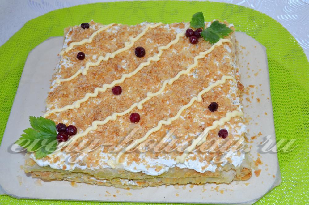 Готовые коржи для наполеона как сделать закусочный торт