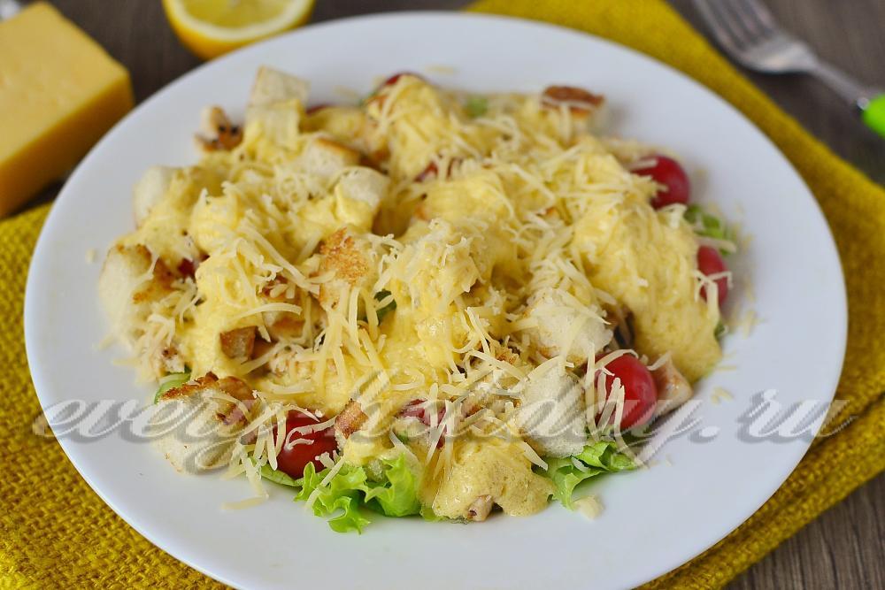 салат с сухариками рецепт с фото с курицей