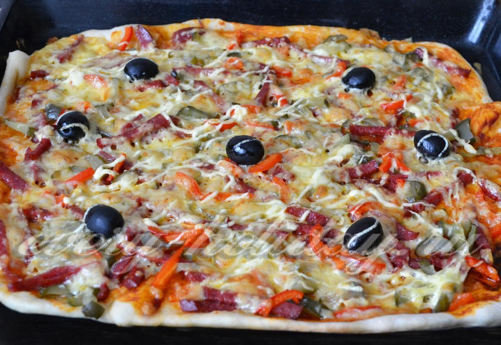 Рецепт пиццы в домашних условиях в духовке с фото из дрожжевого теста