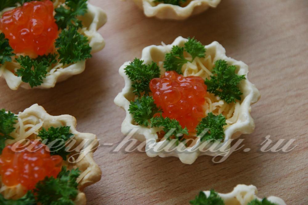 Тарталетки с начинкойы с фото самые вкусные с красной икрой