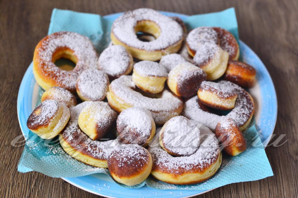 Пончики с молоком рецепт пошаговый с