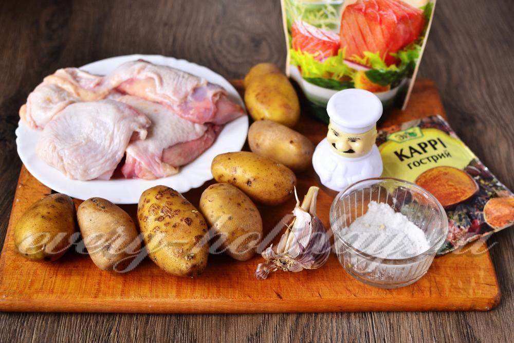 Курица фаршированная с рисом и яблоками в духовке рецепт с фото
