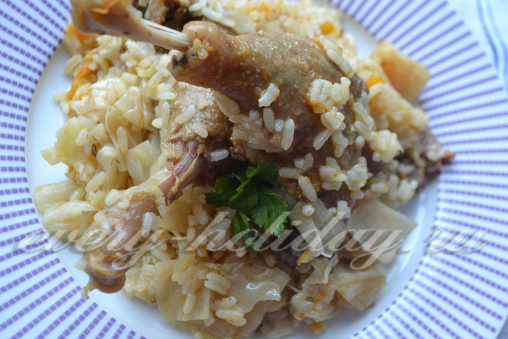 курица тушеная с овощами и рисом рецепт с фото