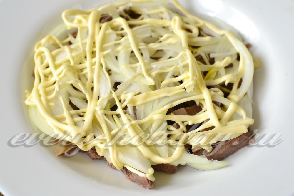 Язык свиной рецепты с салаты и маринованный лук