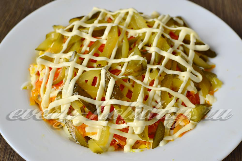 Легкий салат из языка с