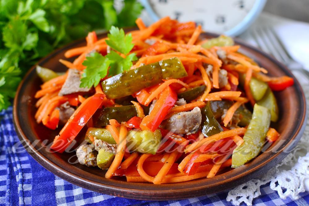 Корейские салаты рецепты с мясом