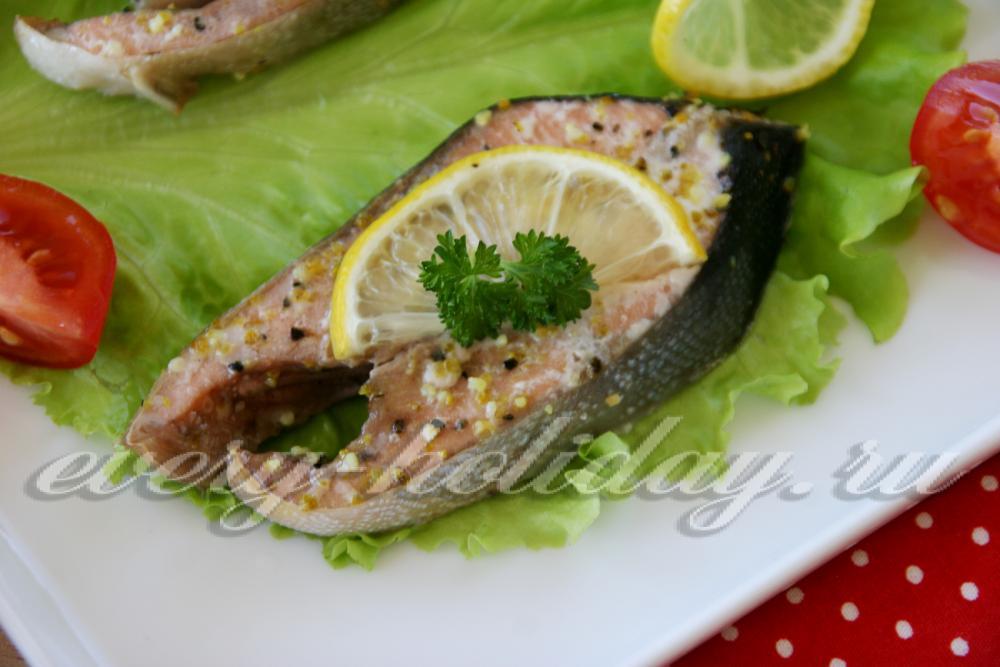 рецепт красной рыбы запеченной в духовке фото рецепт