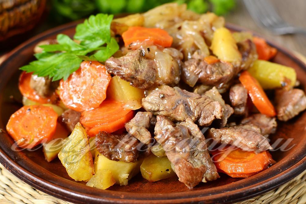 Рецепт жаркое из говядины в горшочках