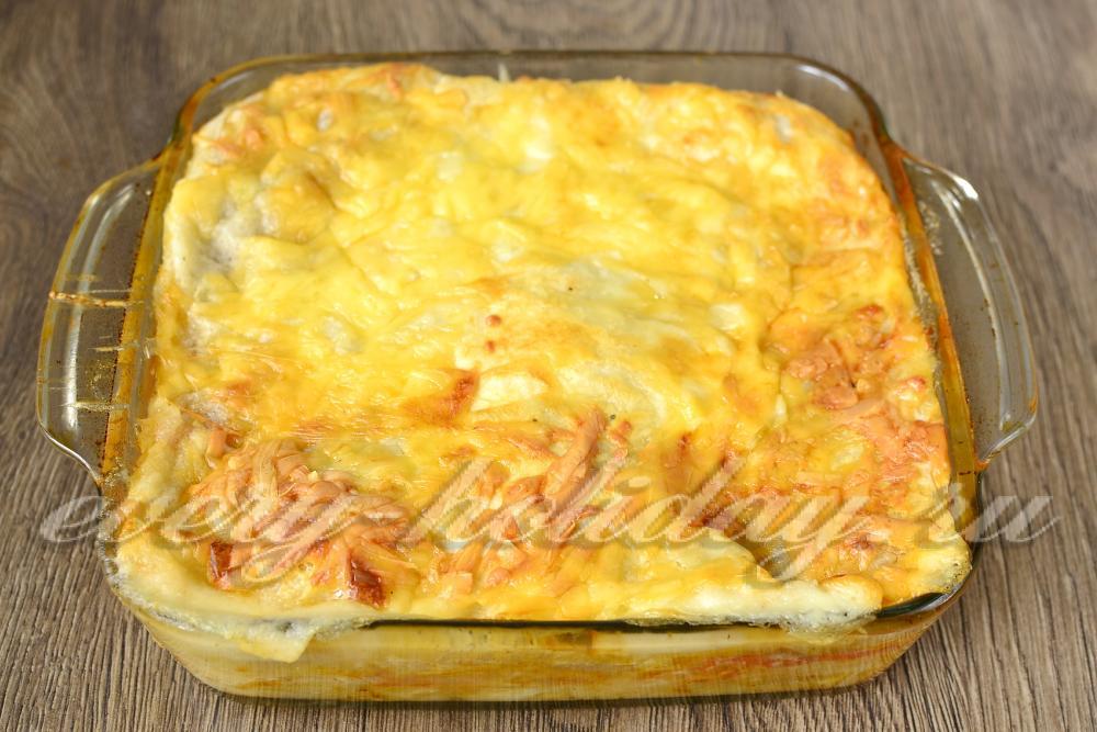 Лазанья на сковороде рецепт пошагово