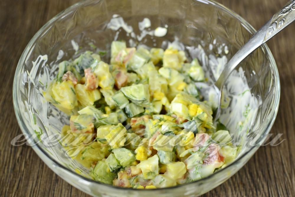 Рецепты салатов заправленные маслом фото