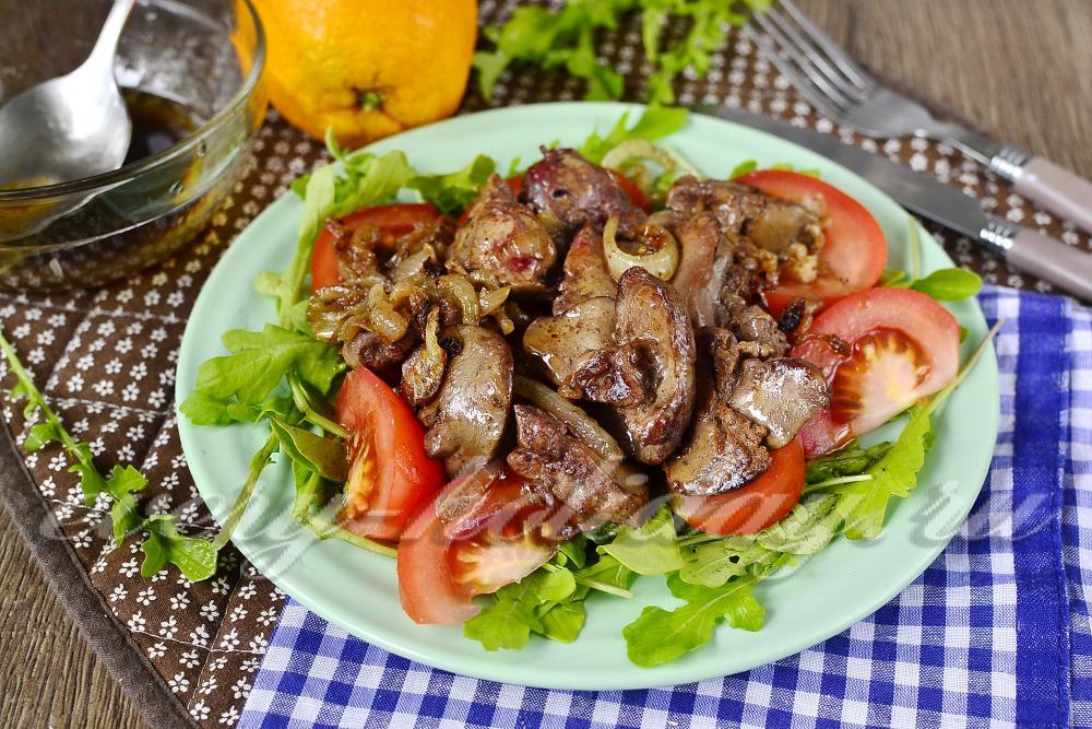 Салат из куринной печени слоями фото
