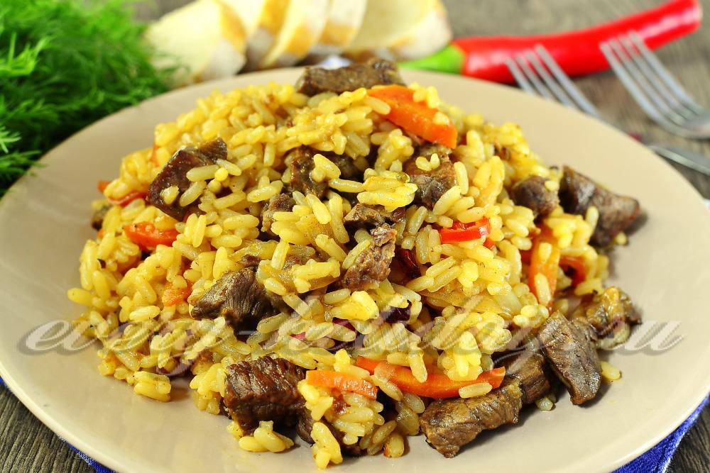 Плов с говядиной на сковороде рецепт пошагово 48